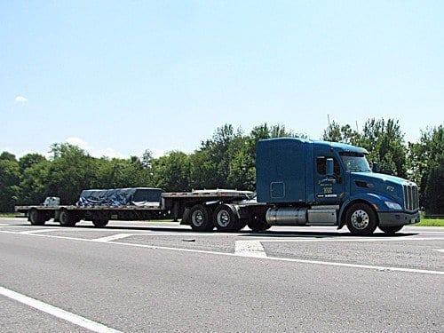 Step Deck with Freerksen Trucking Truck #972